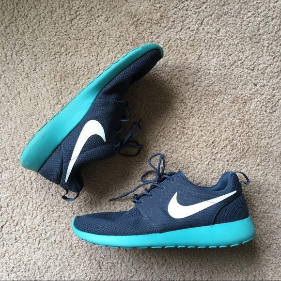 ff943c5cd949 ... where can i buy mens nike roshe run sneakers turquoise size 11 4f743  14357